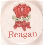 Reagan Red Cloth Rose 1984 Pro-Life Pin