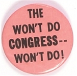 Truman the Wont Do Congress ... Wont Do