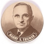 Truman, Brown and White 2 1/4 Inch Celluloid