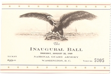 Truman 1949 Inaugural Ball Ticket