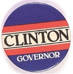 Clinton for Governor Blue Celluloid