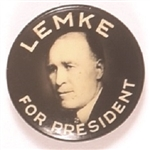 Lemke for President 1936 Union Party Pin