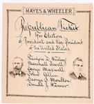 Hayes, Wheeler Illustrated Ballot