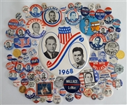 George Wallace Collection of 90 Campaign Items