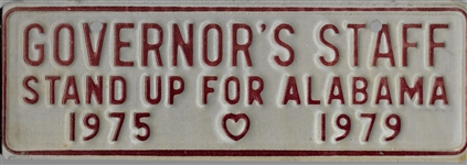 Wallace Governor's Staff License Plate